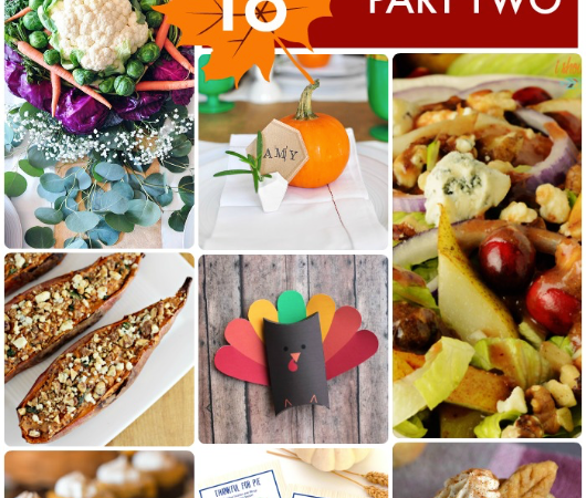 Great Ideas — 18 Thanksgiving Dinner Ideas Part Two!