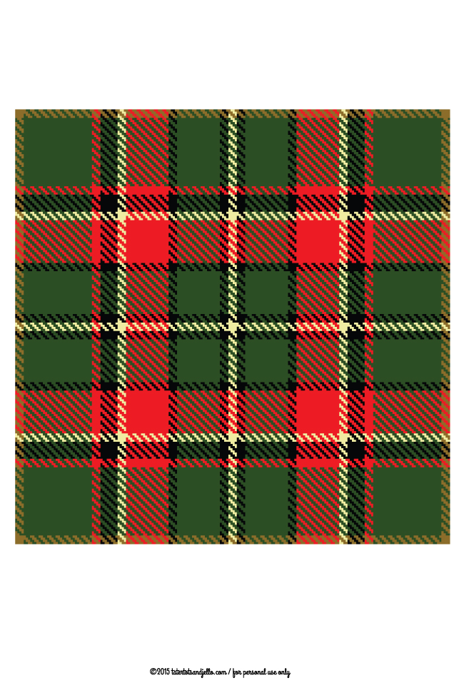 Plaid free printable