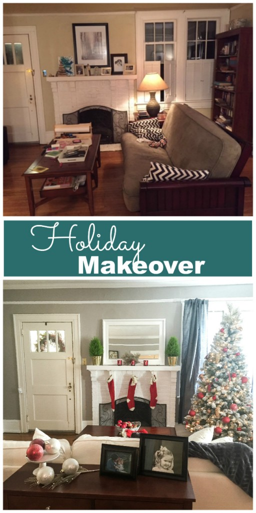 lowes holiday makeover collage