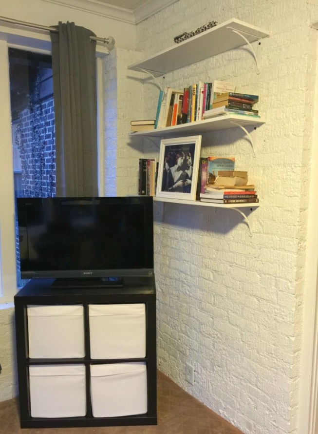 lowes holiday makeover playroom shelves