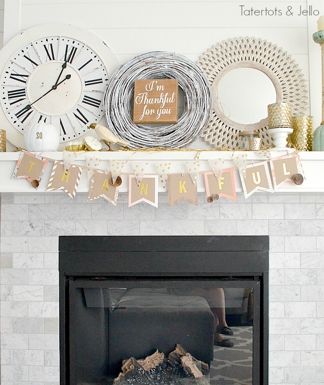 Thanksgiving paper banner tutorial
