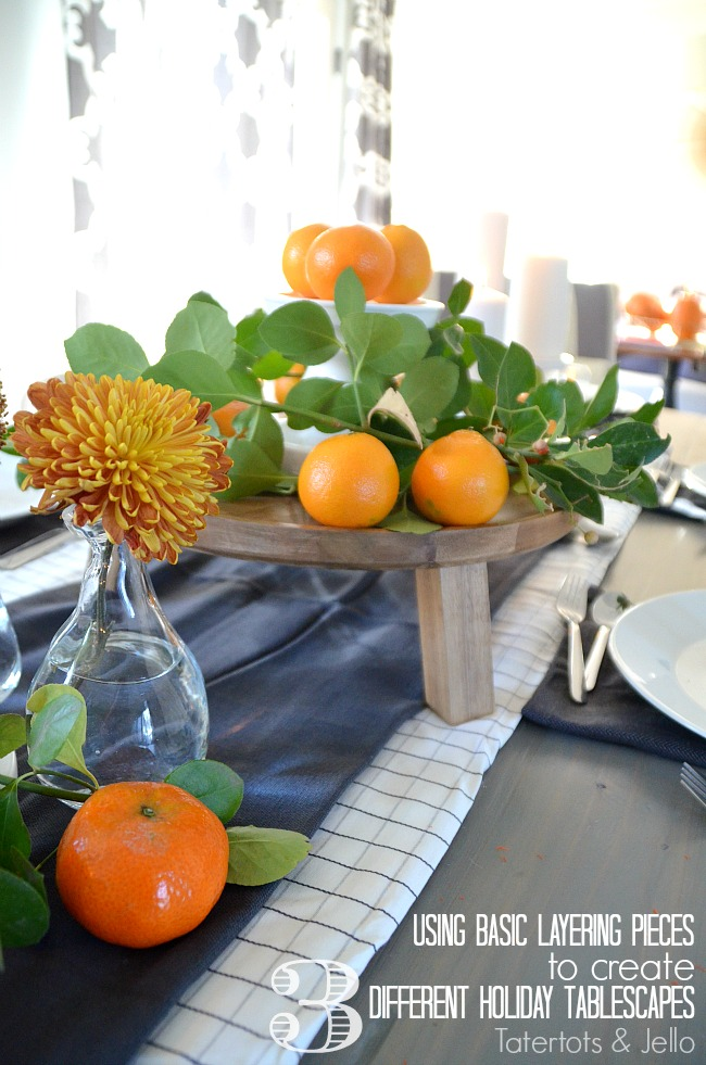 layering holiday tablescapes