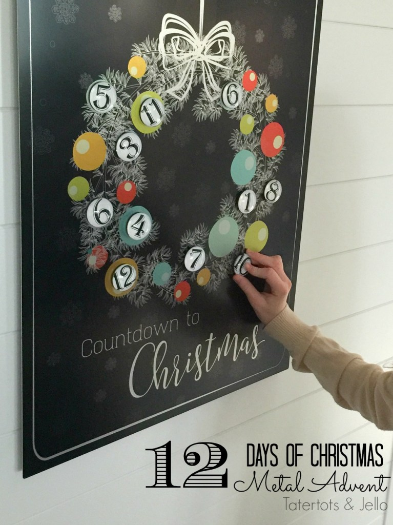 12 days of christmas countdown advent calendar
