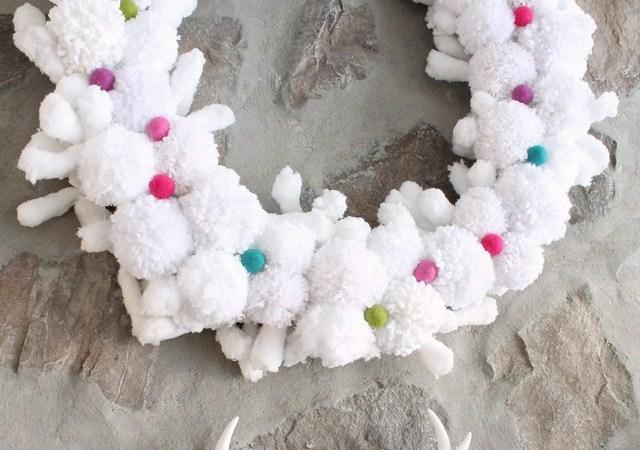 Happy Holidays: Christmas Pom Pom Wreath