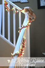 Happy Holidays: Easy Lighted Ribbon Garland