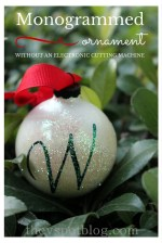 Happy Holidays: DIY Monogrammed Ornament