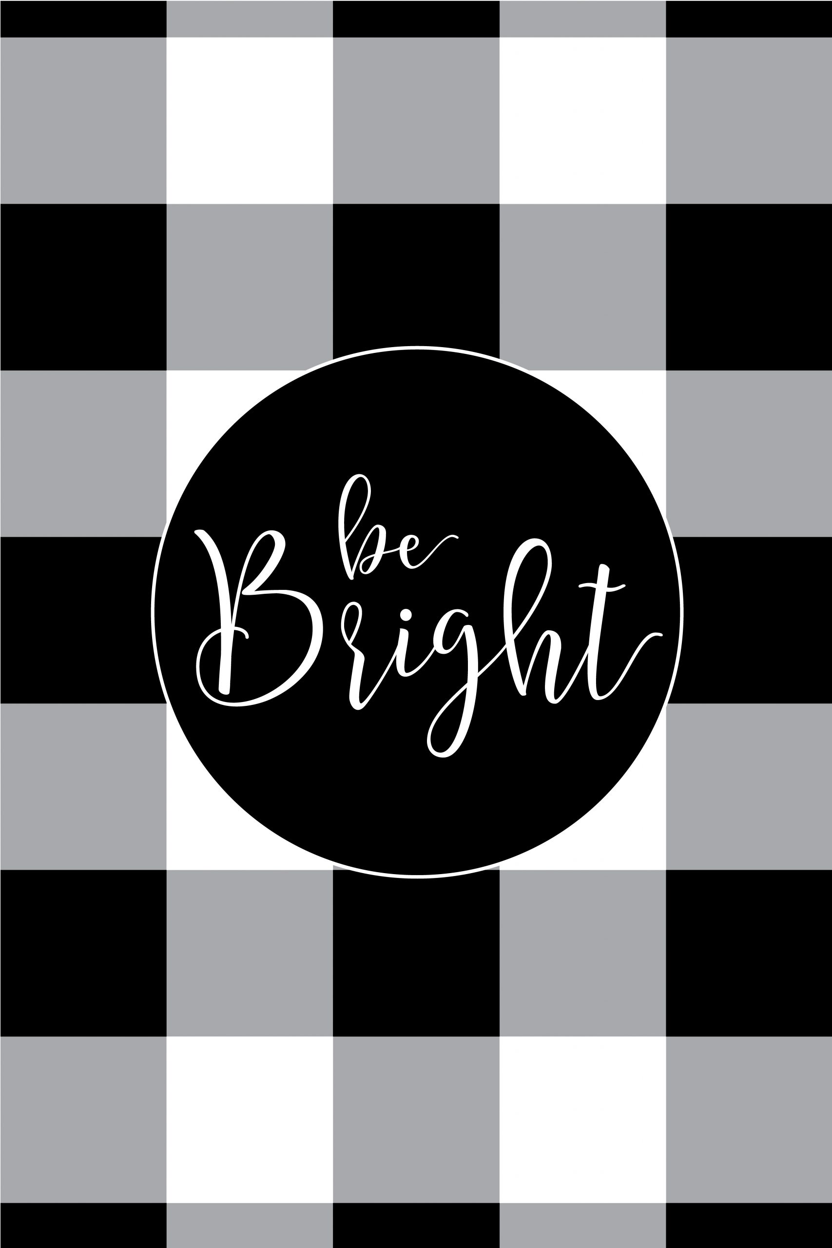 My Word of the Year - Bright! And free Buffalo Check Plaid