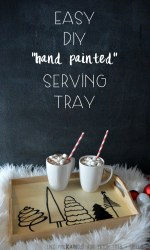 Happy Holidays: Easy DIY Hand Painted Serving Tray