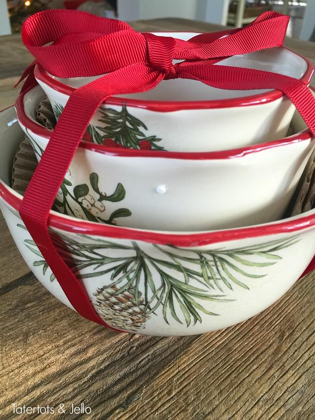 holiday bowls from walmart