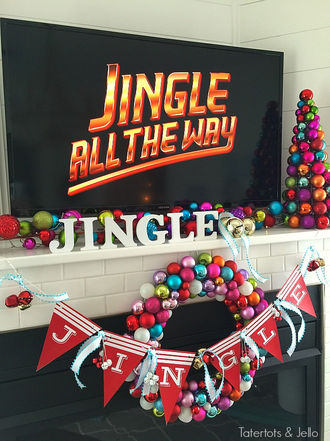 jingle mantel and free christmas banner
