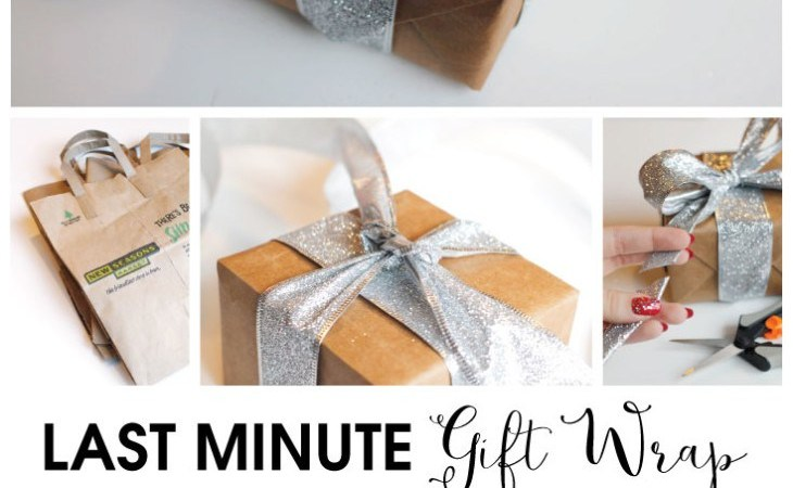 Happy Holidays: Last Minute Gift Wrap Idea