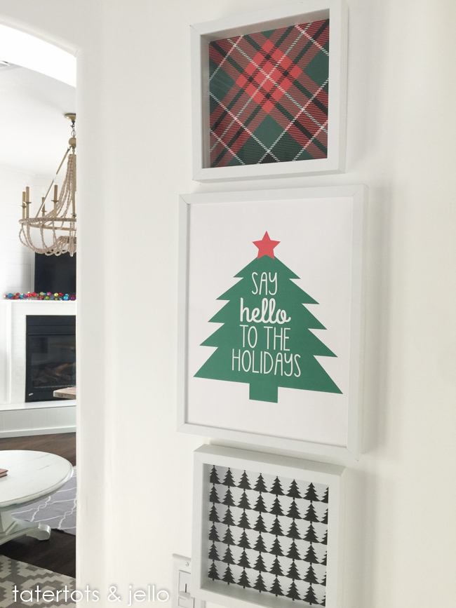 Free Tree and Plaid Holiday Printables