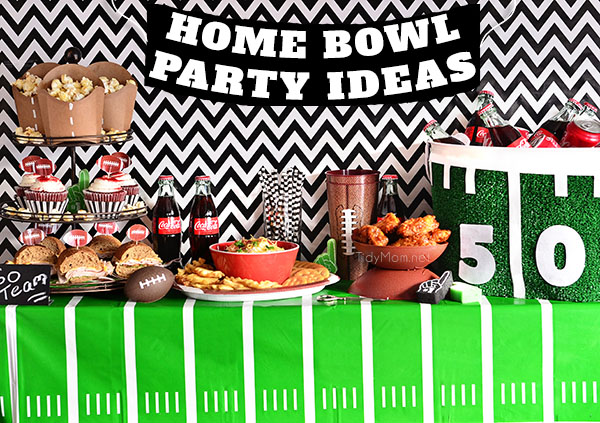 Home Bowl Football Party Ideas, recipes, crafts and more!! details at TidyMom.net