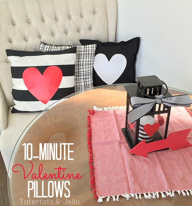 10-minute valentine heart pillow