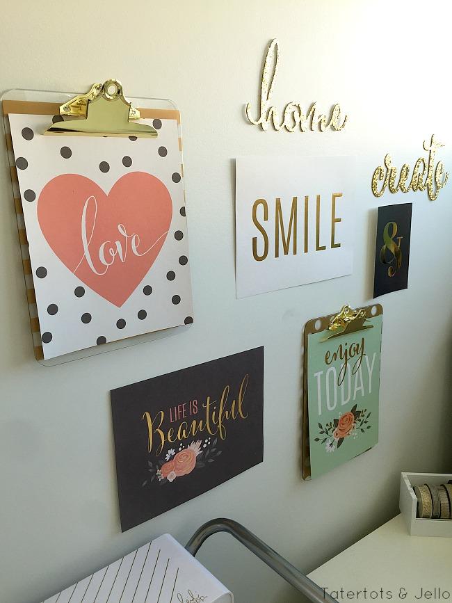 Bedroom Gallery Wall Work Space