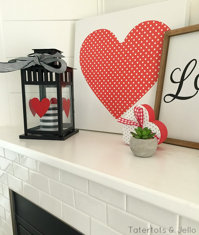 valentine mantel ideas