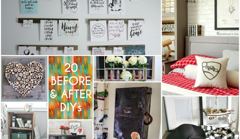 Great Ideas — 20 Before and After DIYs!