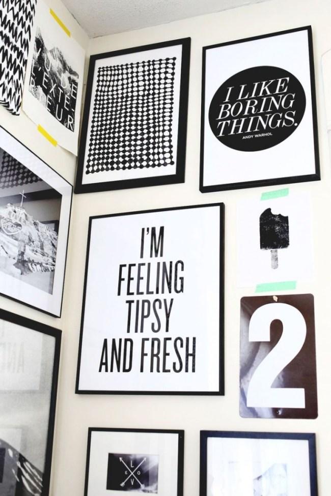 free black and white prints