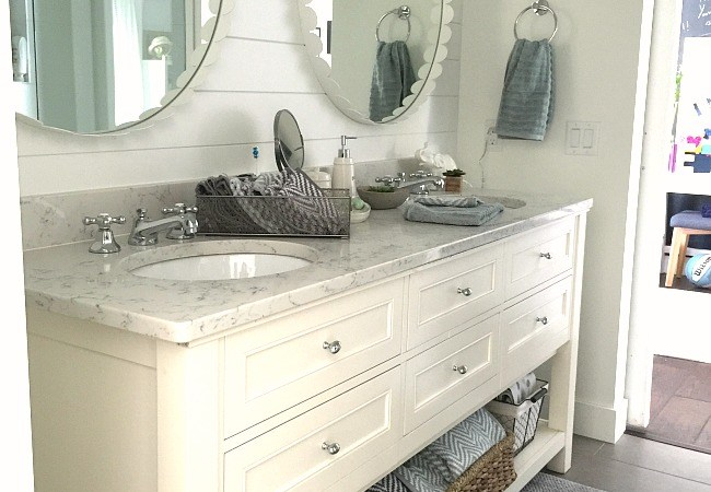 1905 Cottage Addition: Girls' Shared Bathroom Reveal and $100 Walmart giveaway