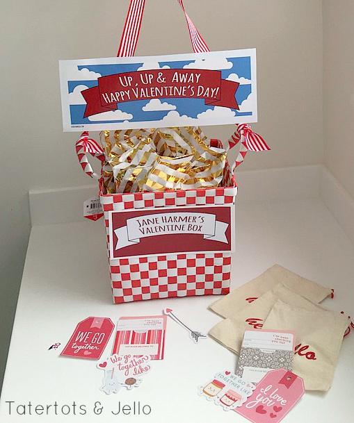 hot air balloon valentine box idea