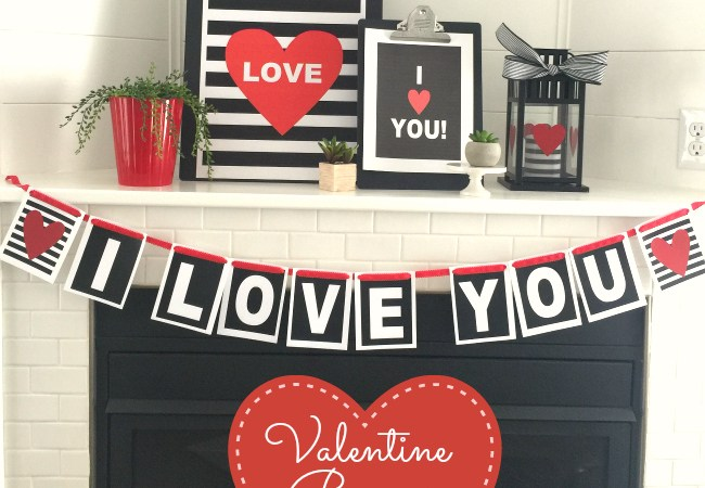 I Love You Valentine's Banner Printable!