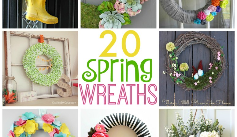 20 Beautiful Spring Wreaths
