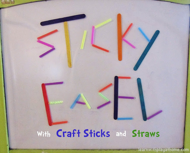 Sticky Easel Toddler Quiet Time Activity