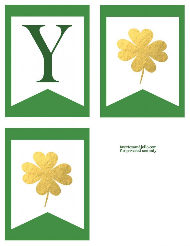 TT&J Gold Lucky Banner St. Patricks Day p2.2