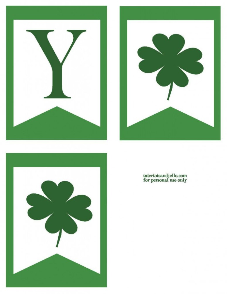 TT&J Green Lucky Banner St. Patricks Day p2.2