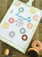 Donuts with Sprinkles Printables