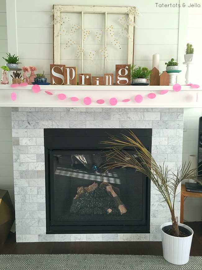 Spring Block Mantel