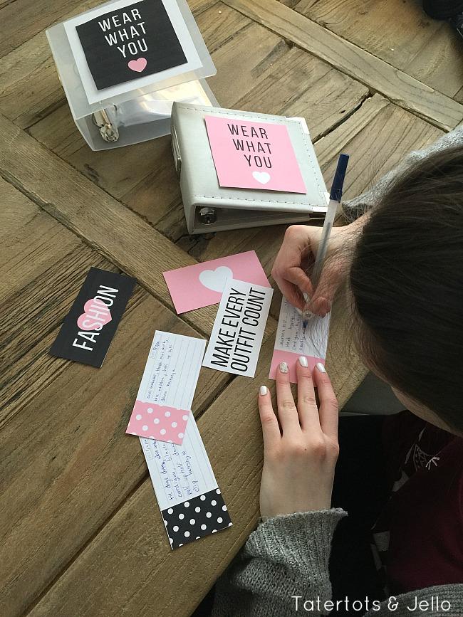 Tween Clothes Organization Book Ideas