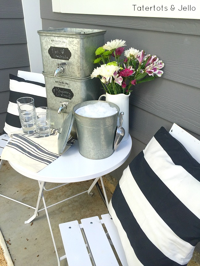 galvanized entertaining pieces