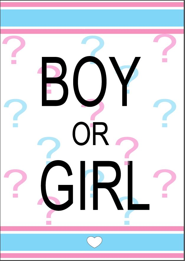 Gender REveal Party Printable