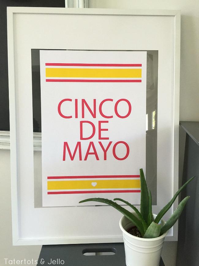 cinco de mayo large party printable