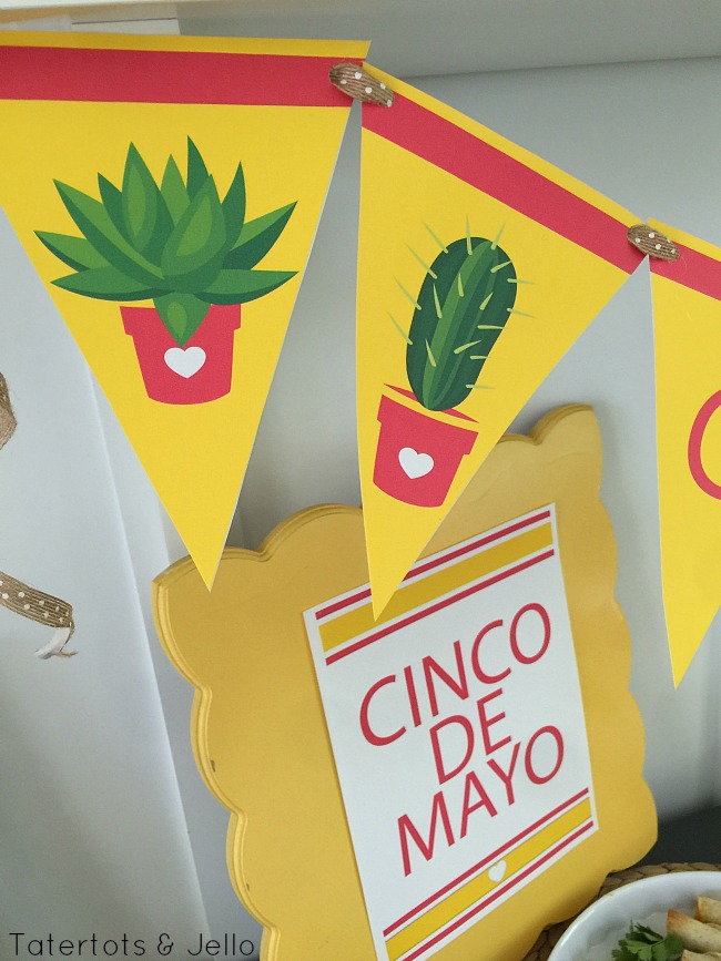 cinco de mayo printables and white cheese queso recipe