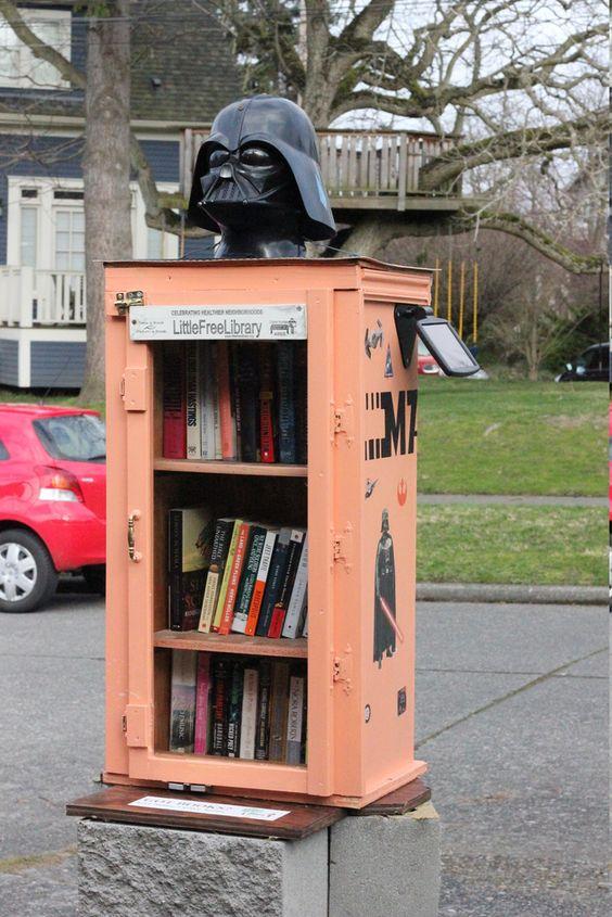 darth vader little free library idea