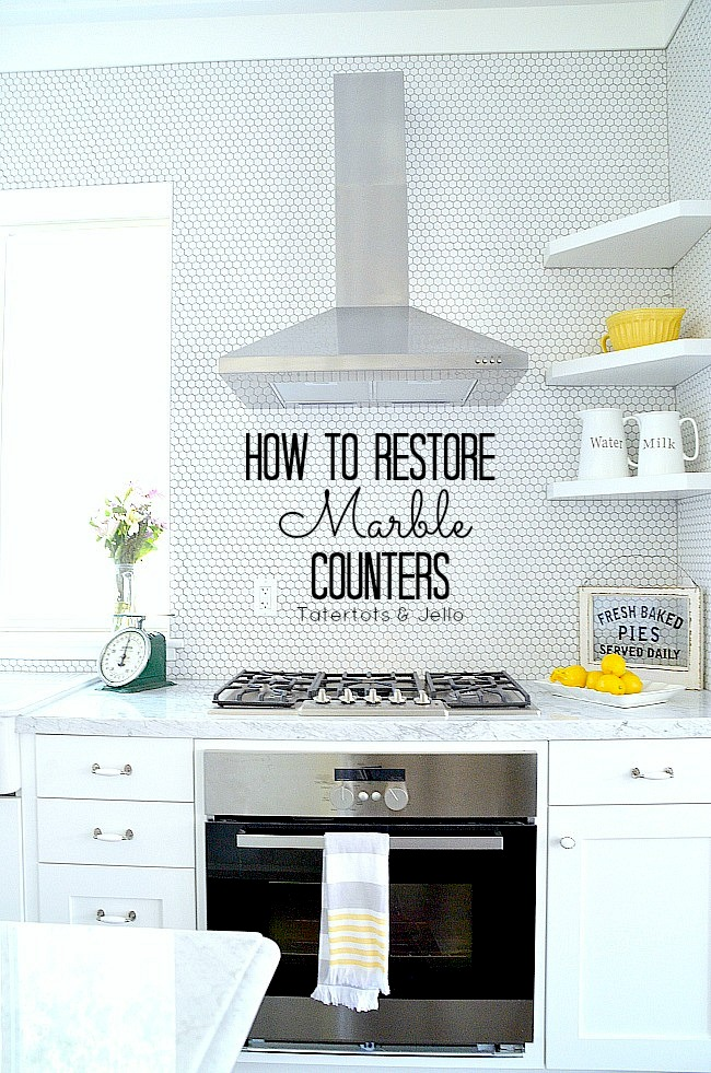 how to restore marble counters.