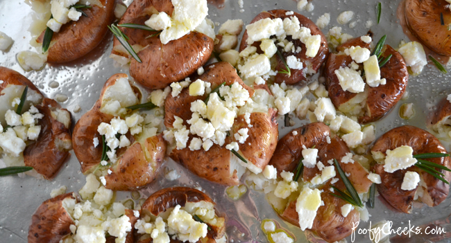 Baked Rosemary Feta Potatoes