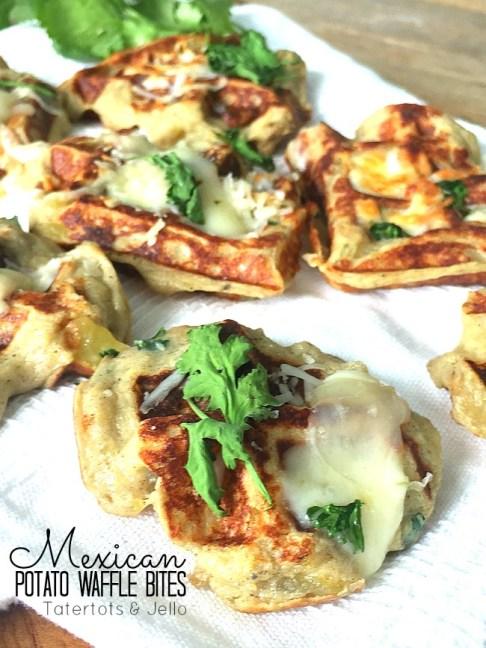 Mexican Potato Waffle Bites