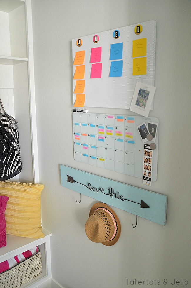 back to school organizing calendar