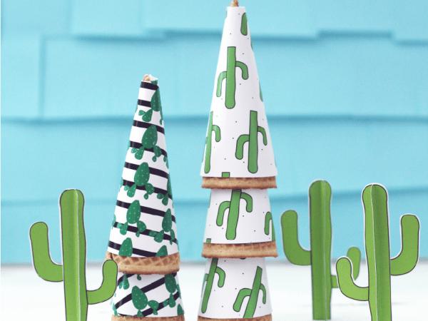 Cactus Ice Cream Party Wrapper Printables