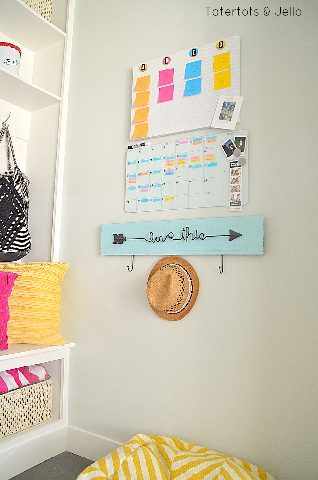 post it note back to school organizing command center
