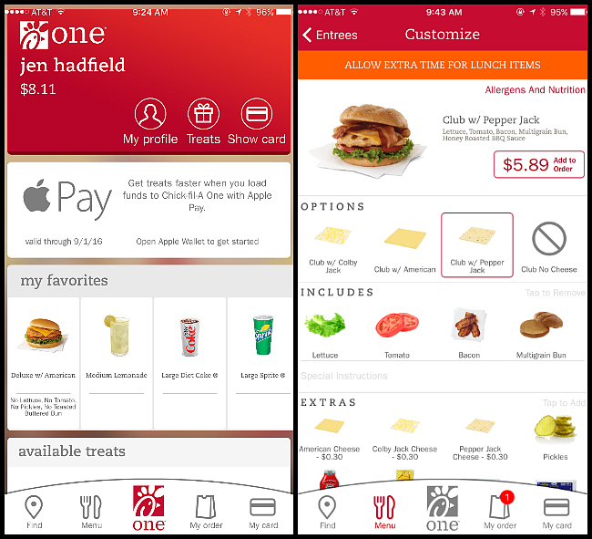 chick fil a one app information