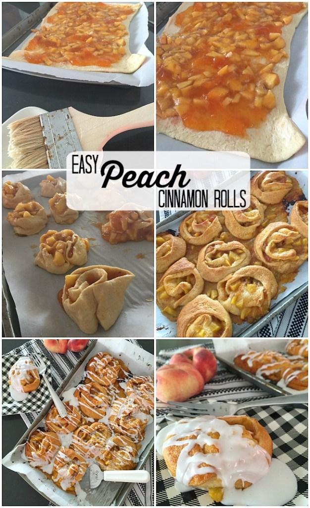 easy peach cinnamon rolls