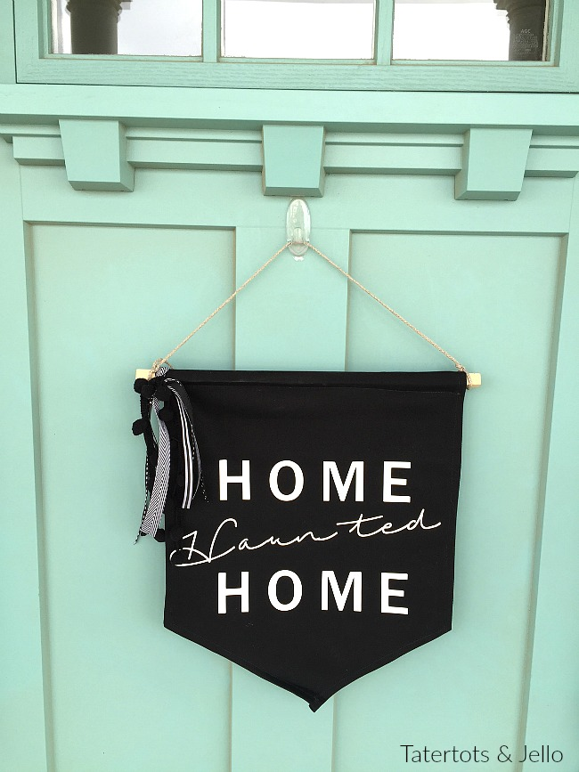home haunted home pennant hanging