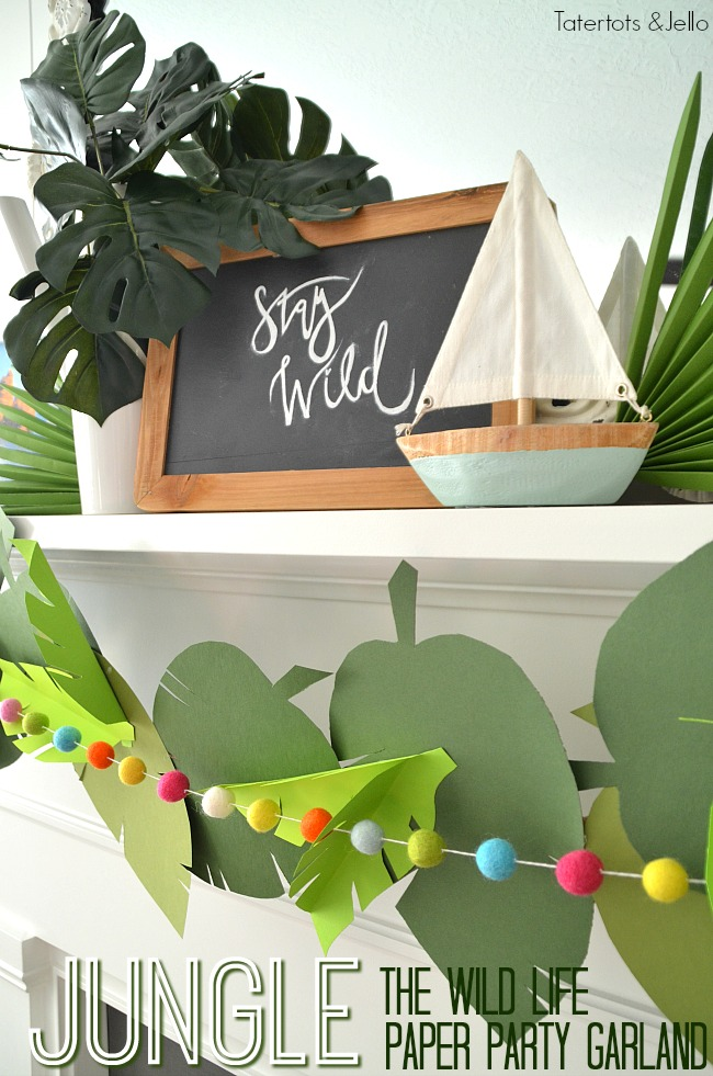 Jungle Paper Leaf Party Garland
