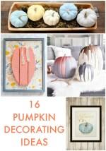 Great Ideas — 16 Pumpkin Decorating Ideas!