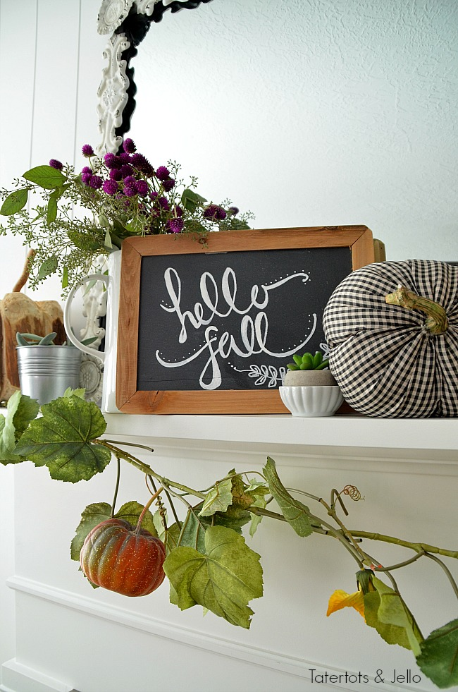 hello fall mantel ideas