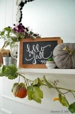 Simple Autumn Mantel Decorating Ideas